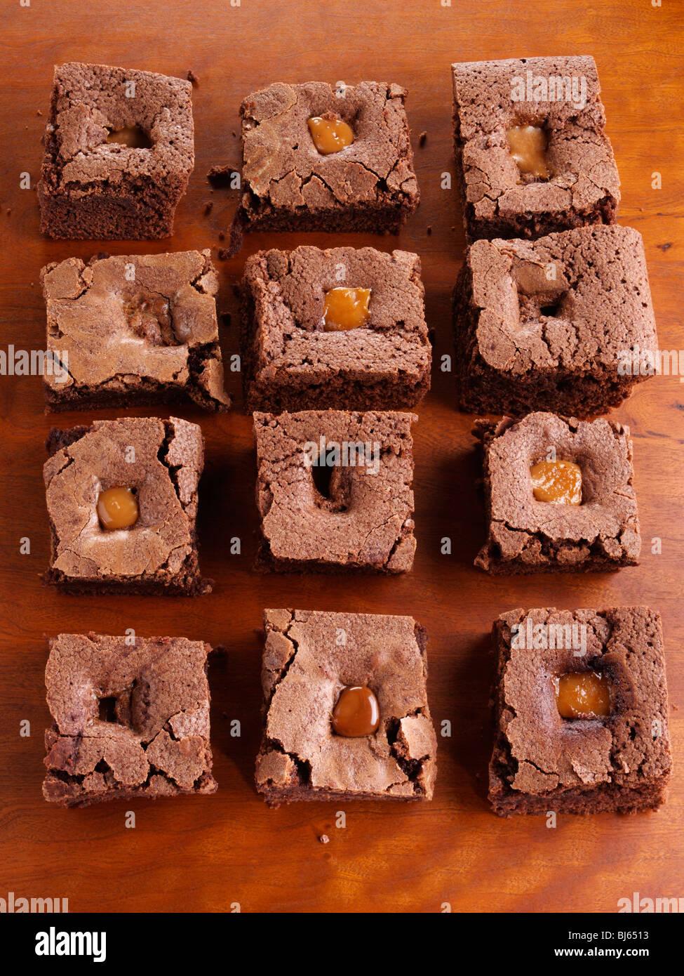 Brownies chocolate cookies - Stock Image
