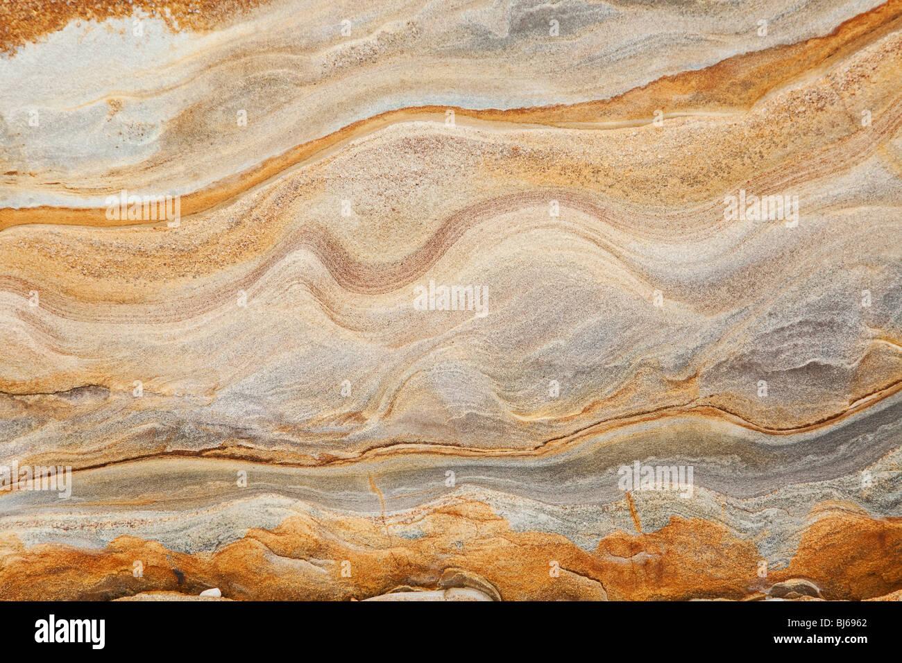 sedimentary rock sandstone background - Stock Image