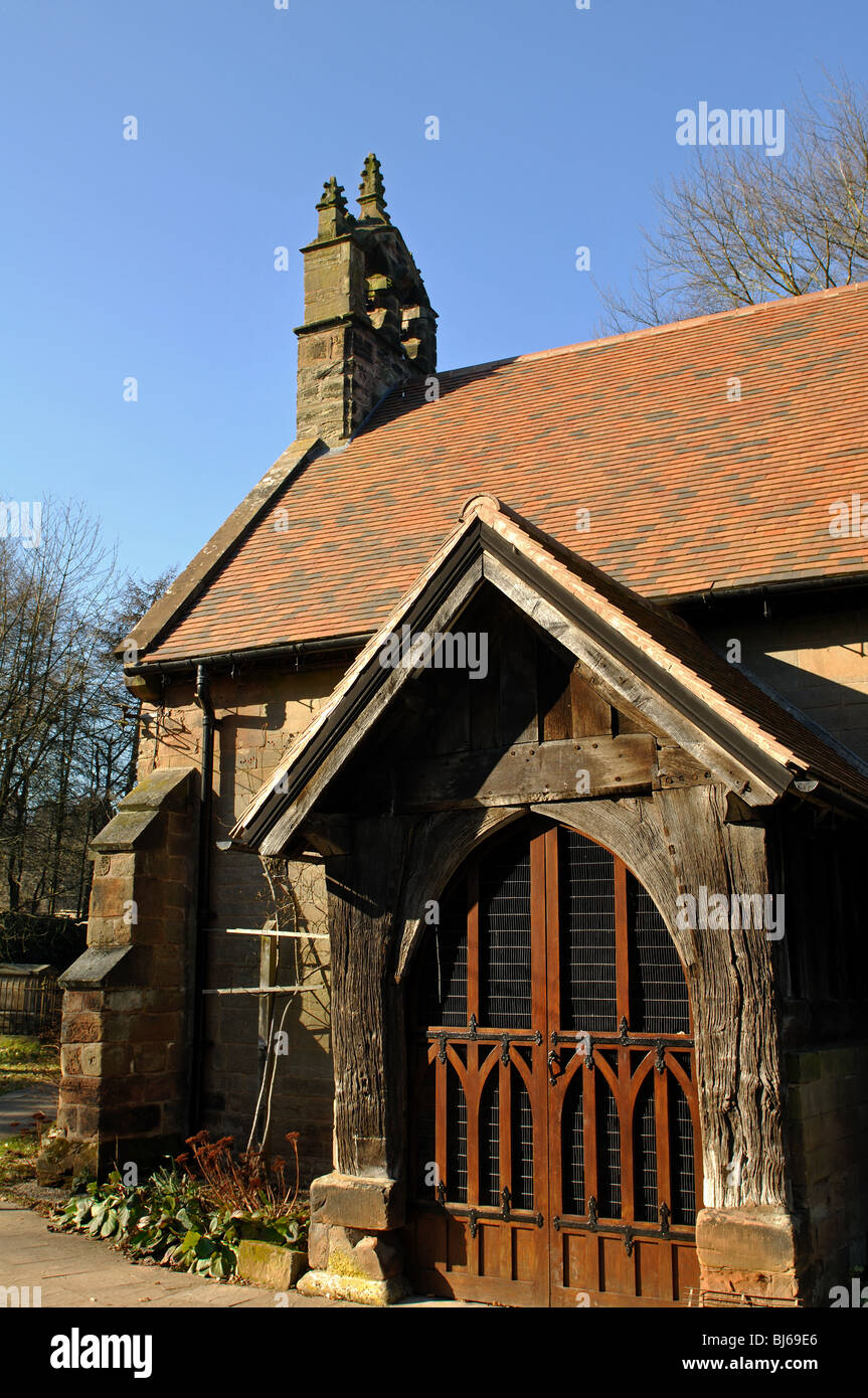 St. Michael and All Angels Church, Cofton Hackett, Worcestershire, England, UK - Stock Image