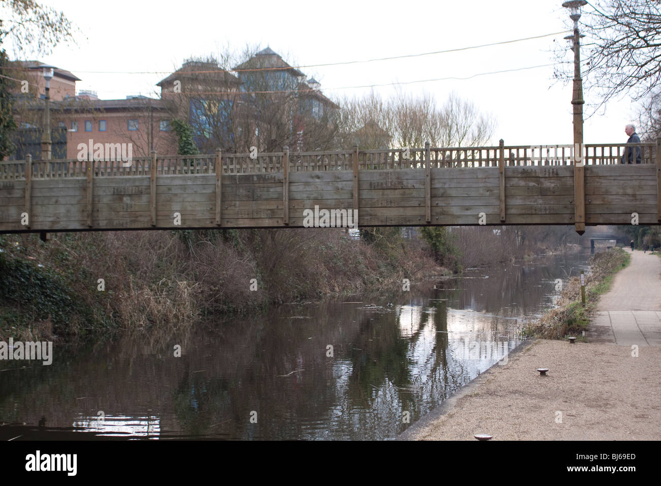 Basingstoke Canal in Woking - Stock Image