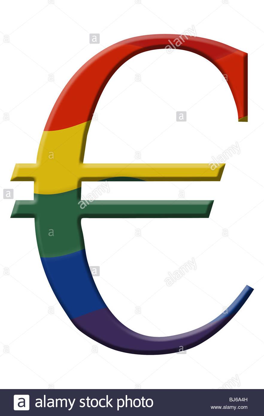 Euro Symbol Rainbow Stock Photos Euro Symbol Rainbow Stock Images