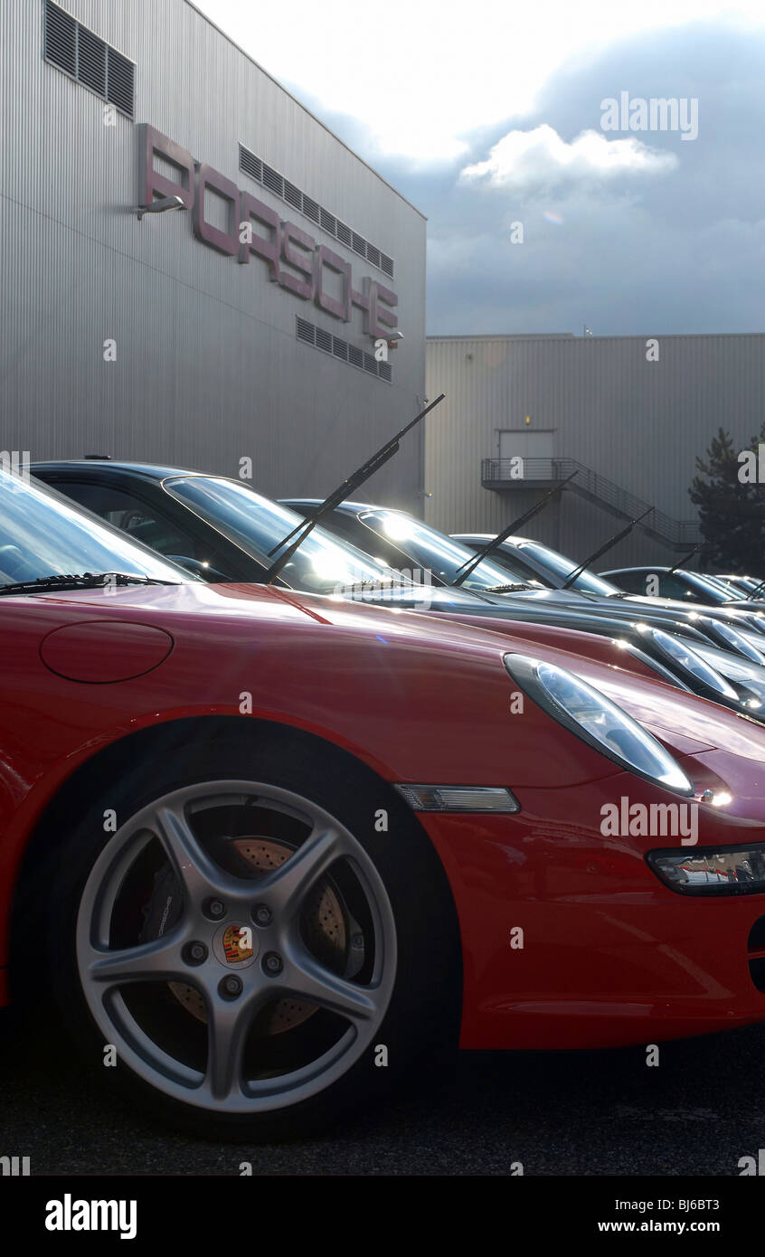 Porsche Factory In Stuttgart Germany Stock Photo