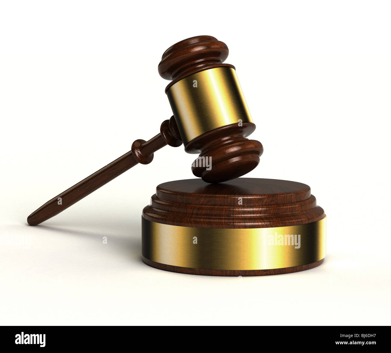Gavel and sound block - Stock Image