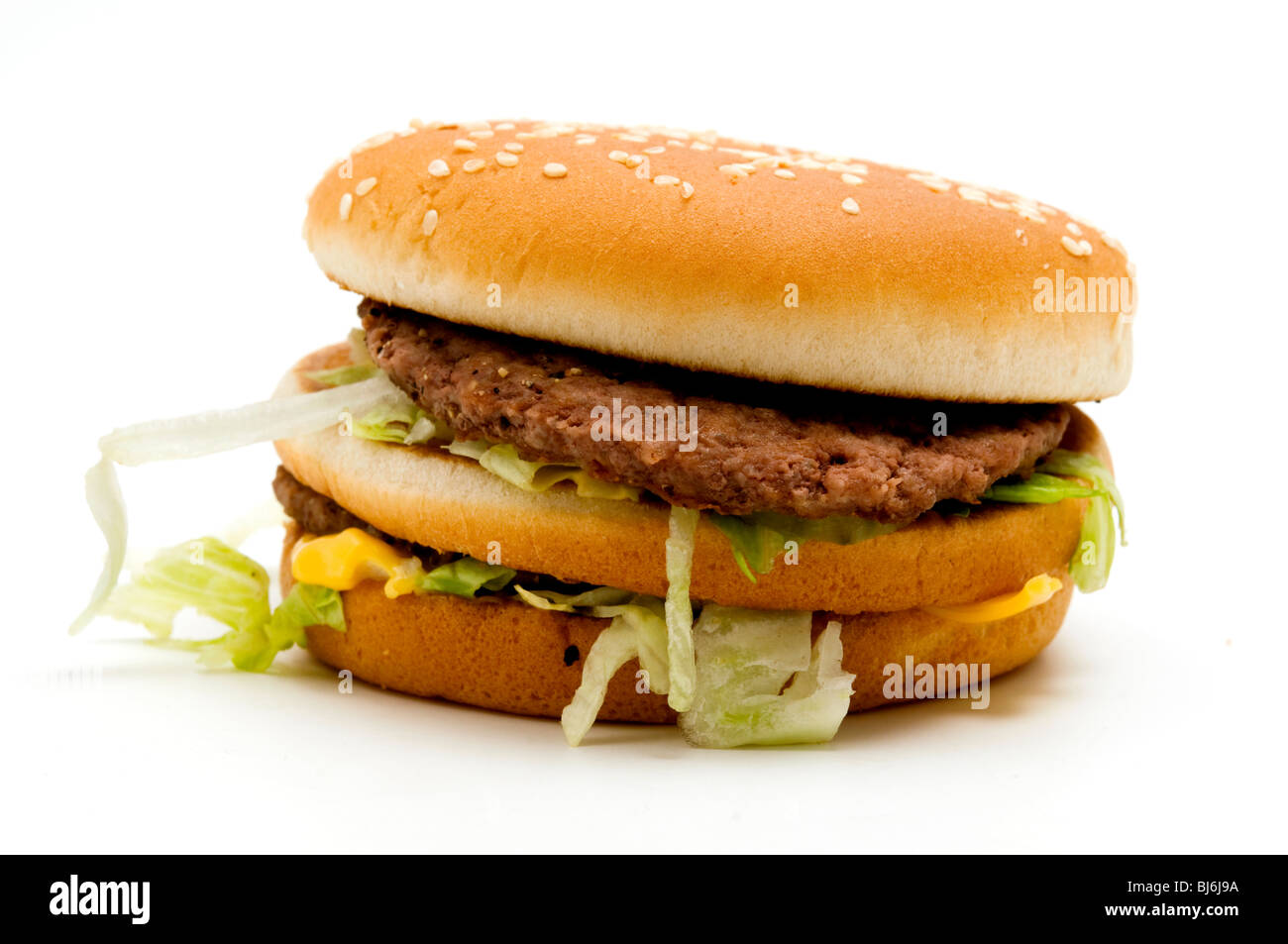 Real McDonald's Big Mac - Stock Image