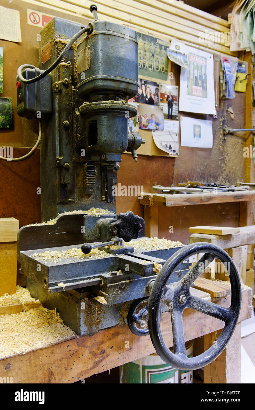 The Carpenter's Workshop - Lathe - Stock Image