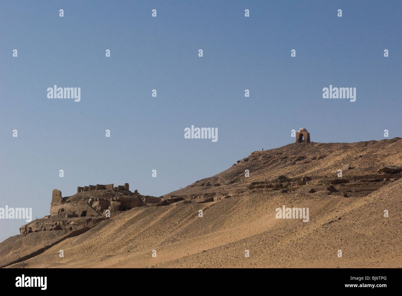 A hillside overlooking the Nile River near Aswan, Egypt,Africa. - Stock Image