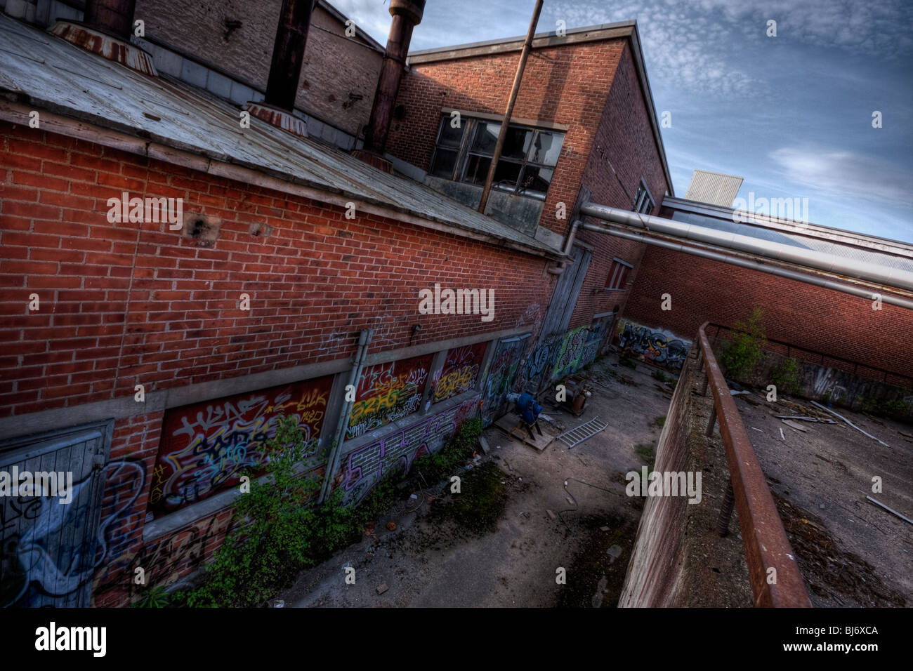 Abandoned warehouse - Stock Image