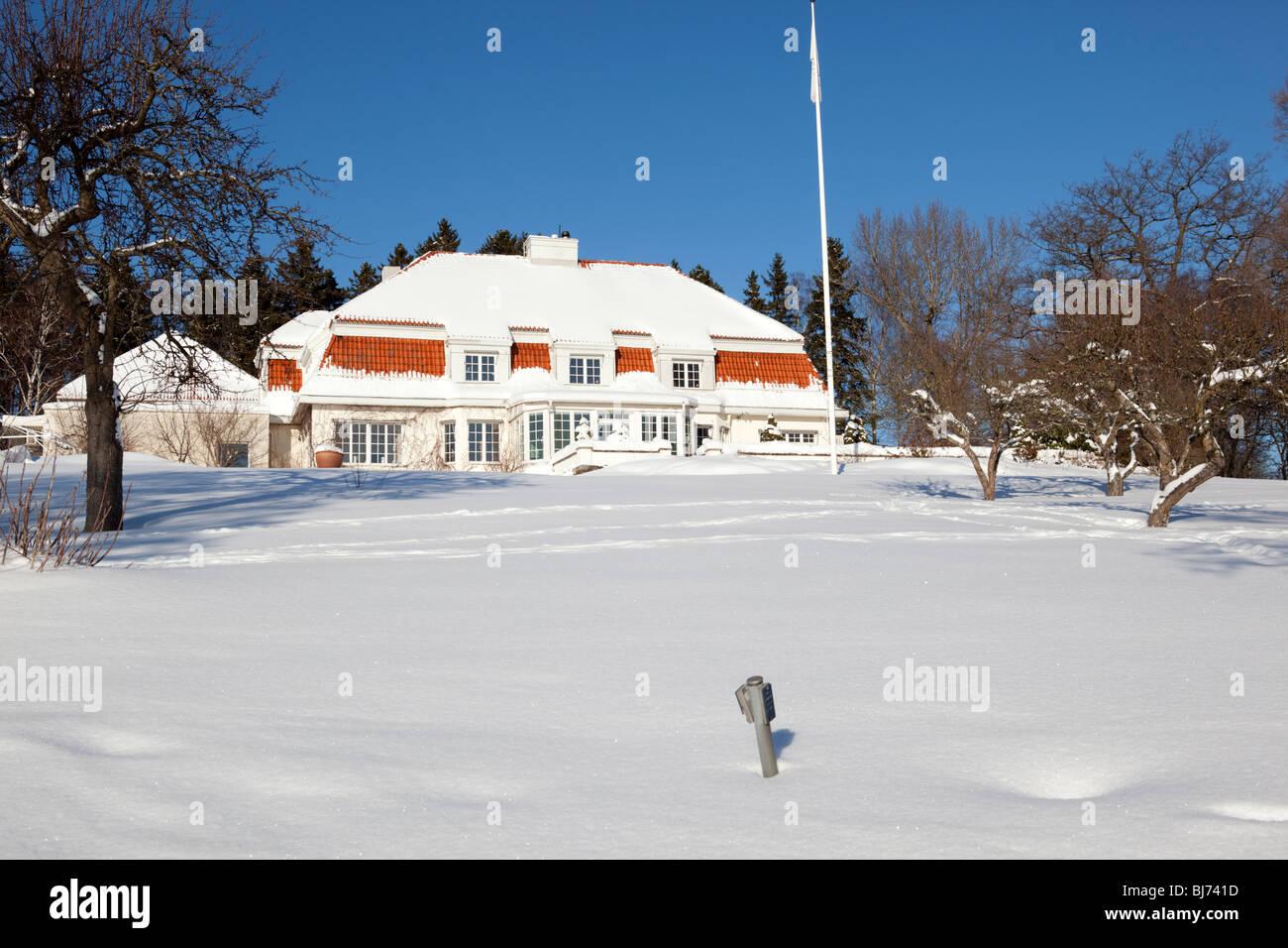 Villa Söderås, Lidingö (Sweden) - Stock Image