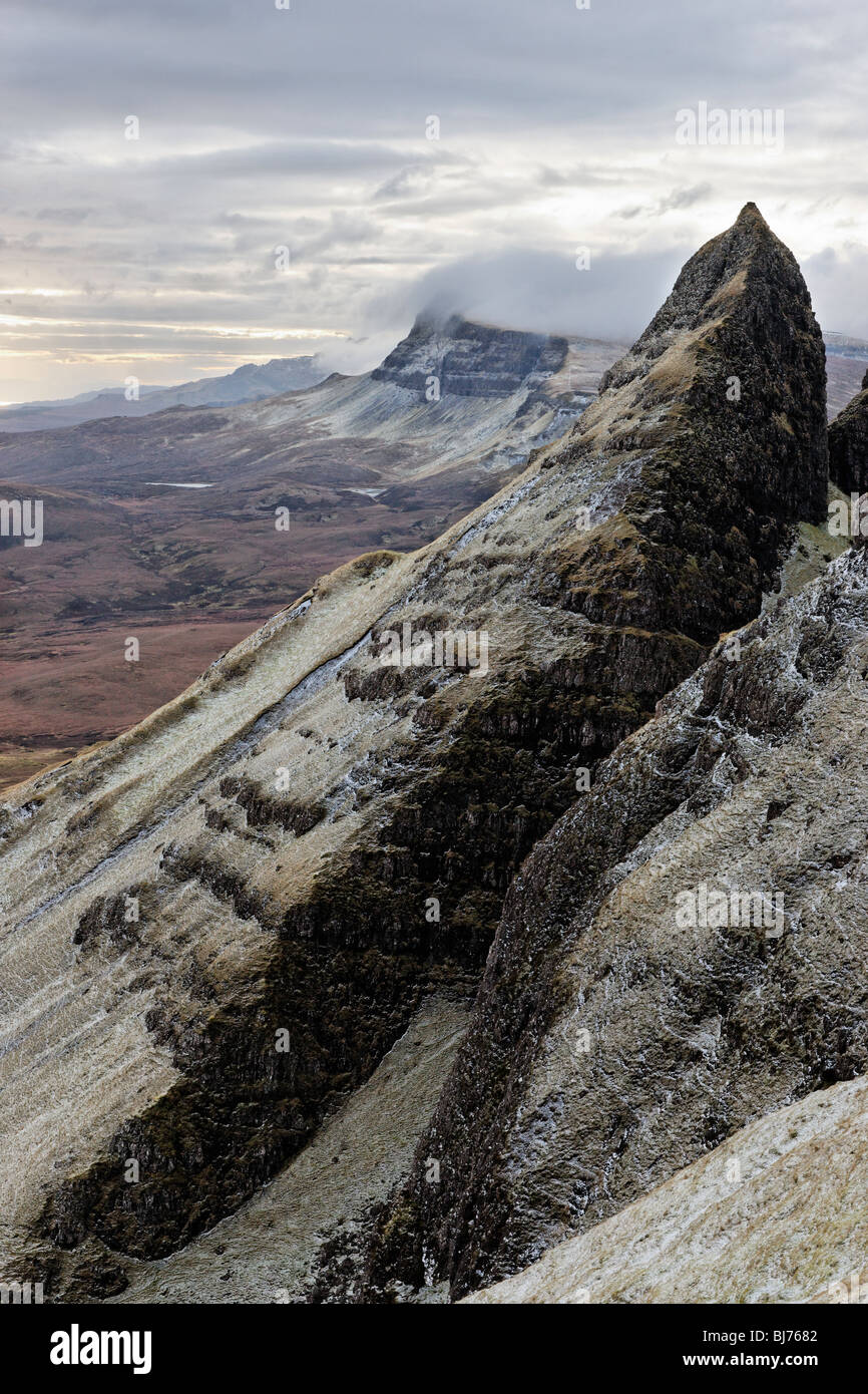 The scarp slope of the Trotternish ridge, Isle of Skye, Scotland, UK. - Stock Image