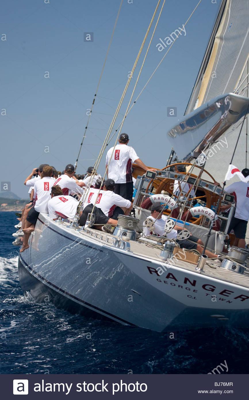 Ranger at The Super Yacht Cup, Palma de Mallorca, Spain Stock Photo
