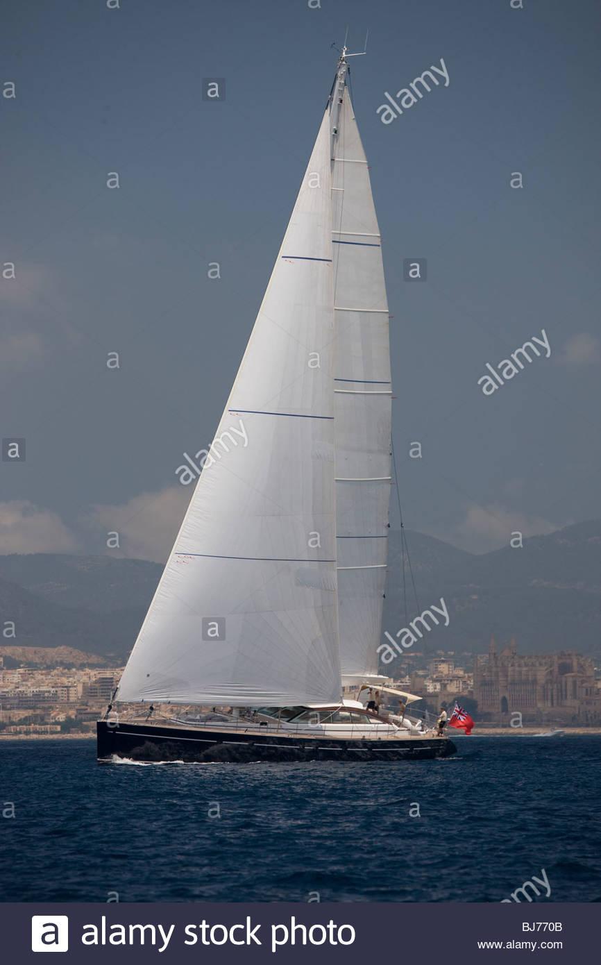 Ameena at The Super Yacht Cup, Palma de Mallorca, Spain Stock Photo