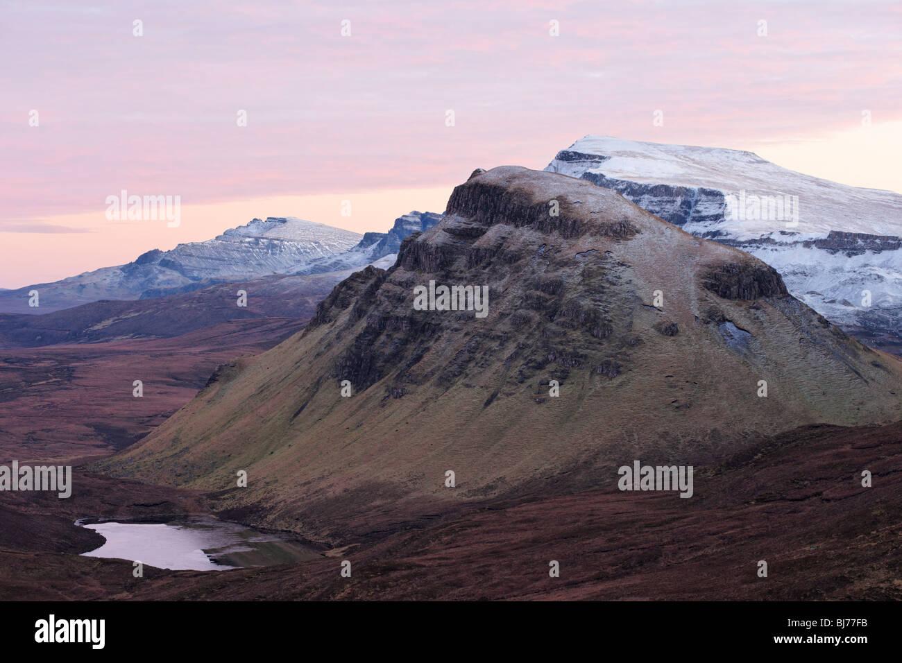 View along the Trotternish scarp slope to Cleat, Isle of Skye, Scotland, UK. - Stock Image