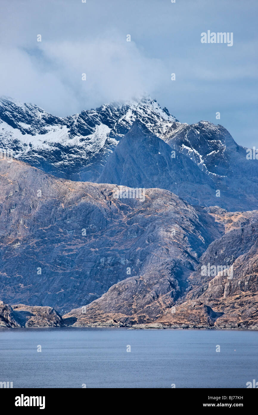 View to Sgurr nan Gillean in the Black Cuillin from Elgol, Isle of Skye, Scotland, UK. - Stock Image