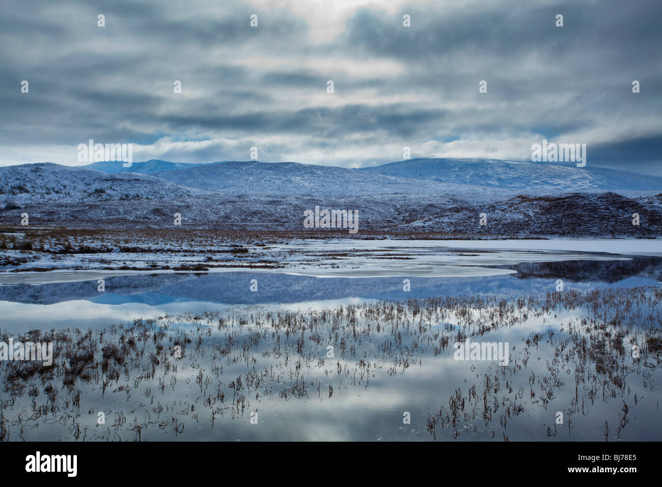 Scotland, Scottish Highlands, Loch a' Chuilinn. The subtle shades of a mid-winters day - Stock Image