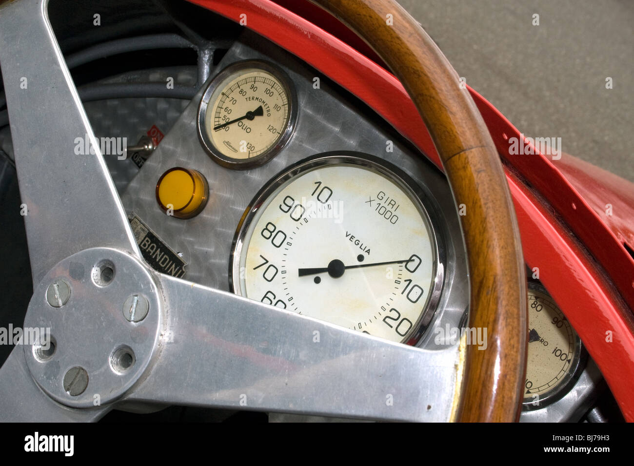 Cockpit of a racing acr at Brands Hatch in Kent. - Stock Image
