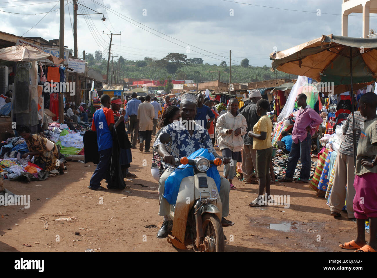 Market in Lilongwe, Malawi - Stock Image