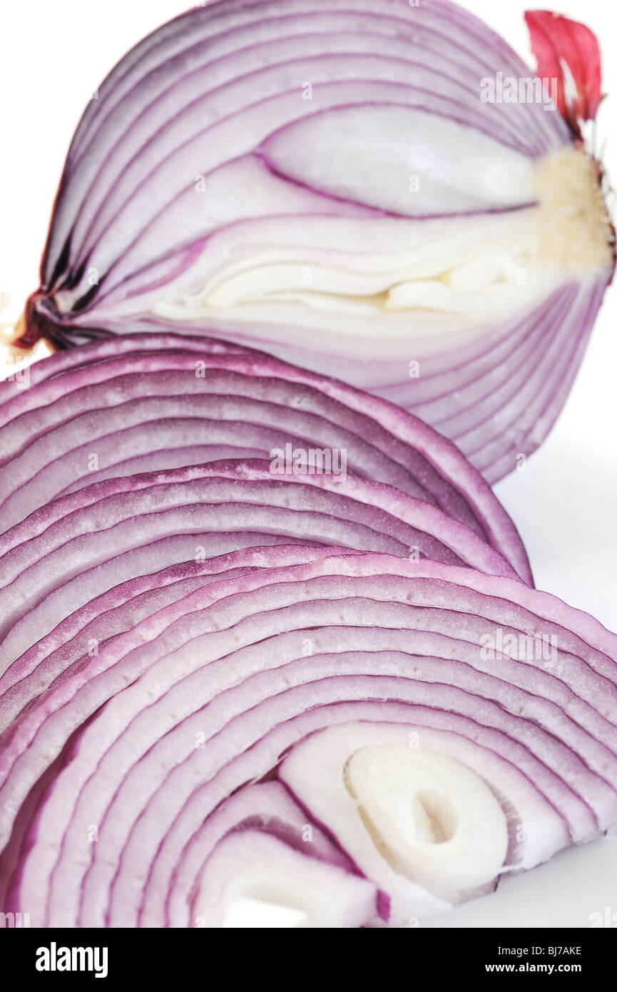 Extreme close-up image of onion, background image - Stock Image