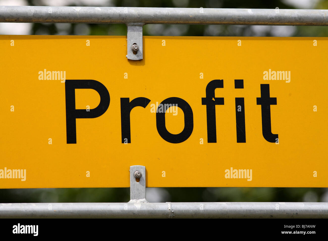 Signpost with the lettering 'profit' - Stock Image