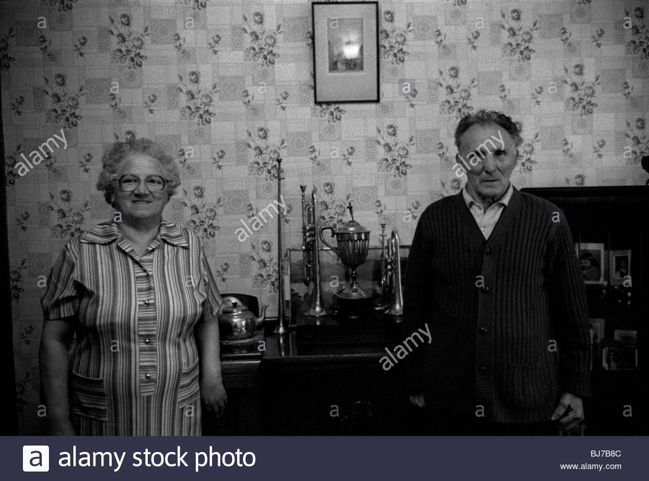 Older couple from the Black Country West Midlands Britain 1970s - Stock Image