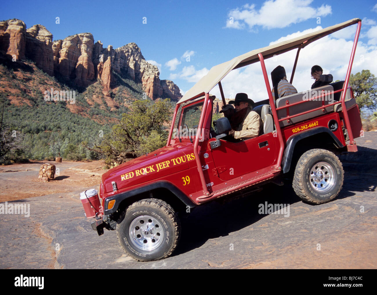 Red Rock Jeep Tours Vehicle Explores Sedona