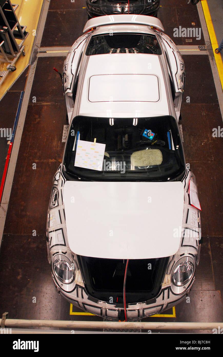 Porsche Carrera production line, Stuttgart, Germany - Stock Image