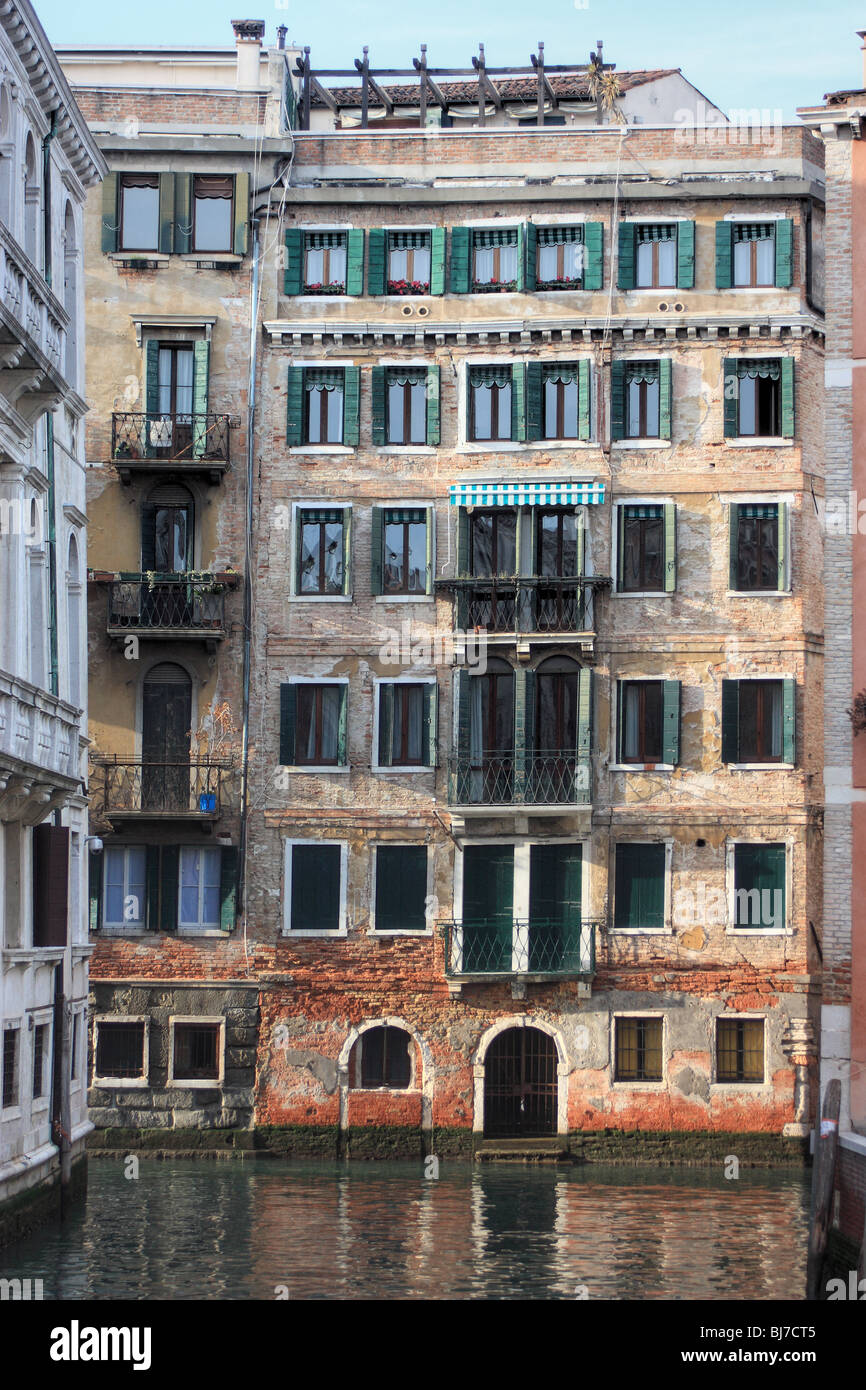 Multi-storey apartment buildings in Venice, Italy - Stock Image