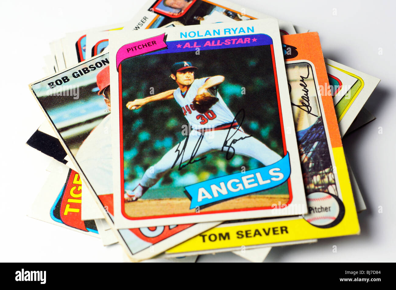 Collectible Baseball Cards Stock Photo 28438260 Alamy