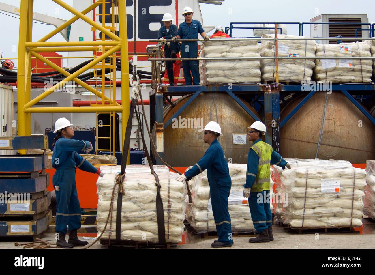 Muara Container Port.Brunei Darussalam - Stock Image