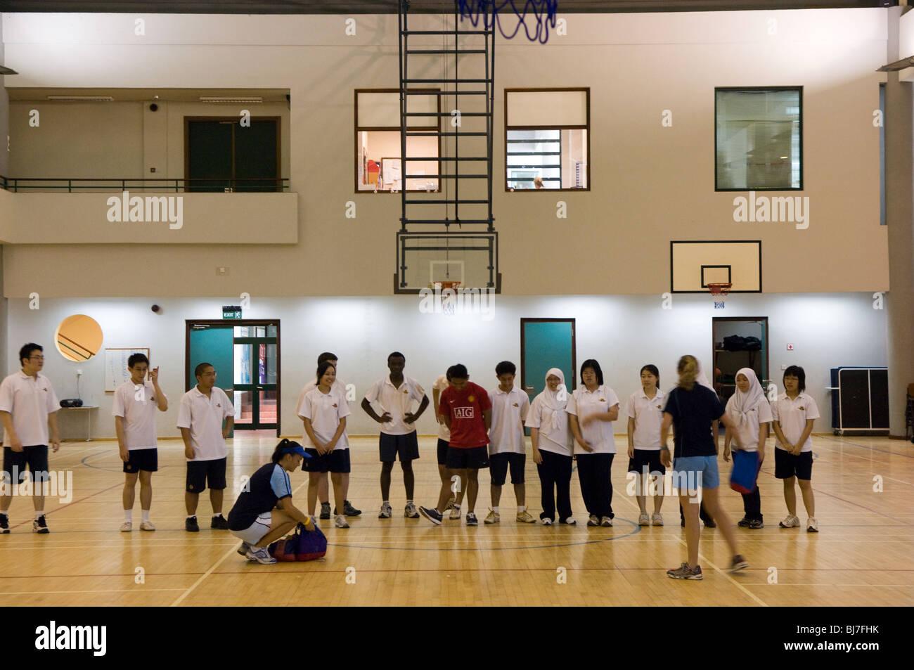 Gym, International School, Bandar Seri Begawan,Brunei Darussalam - Stock Image