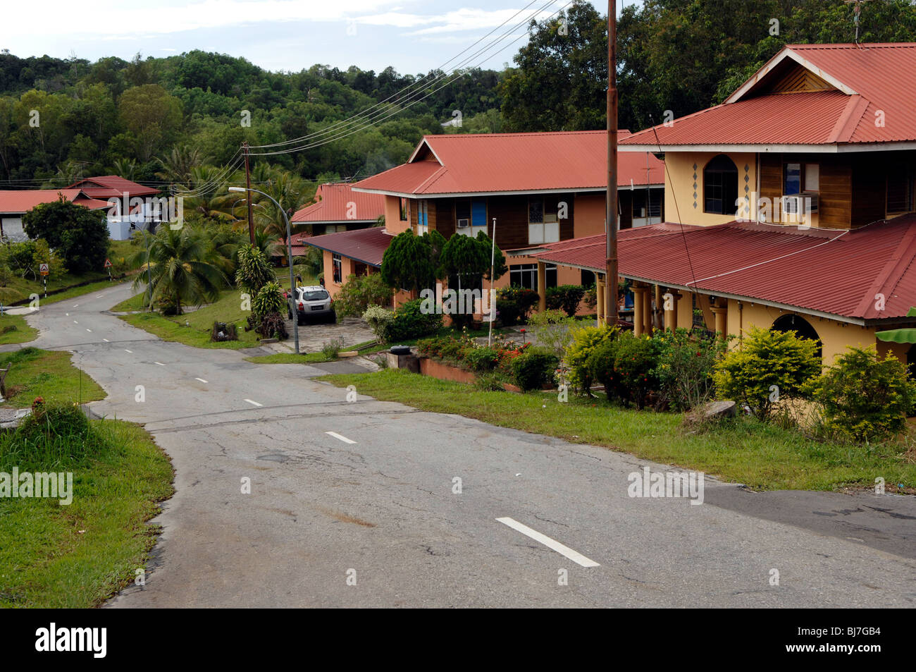 Government housing project, Brunei Darussalam - Stock Image