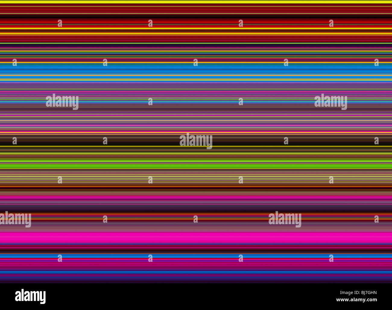 Multicoloured striped lines pattern. Digital illustration crafted from a photograph - Stock Image