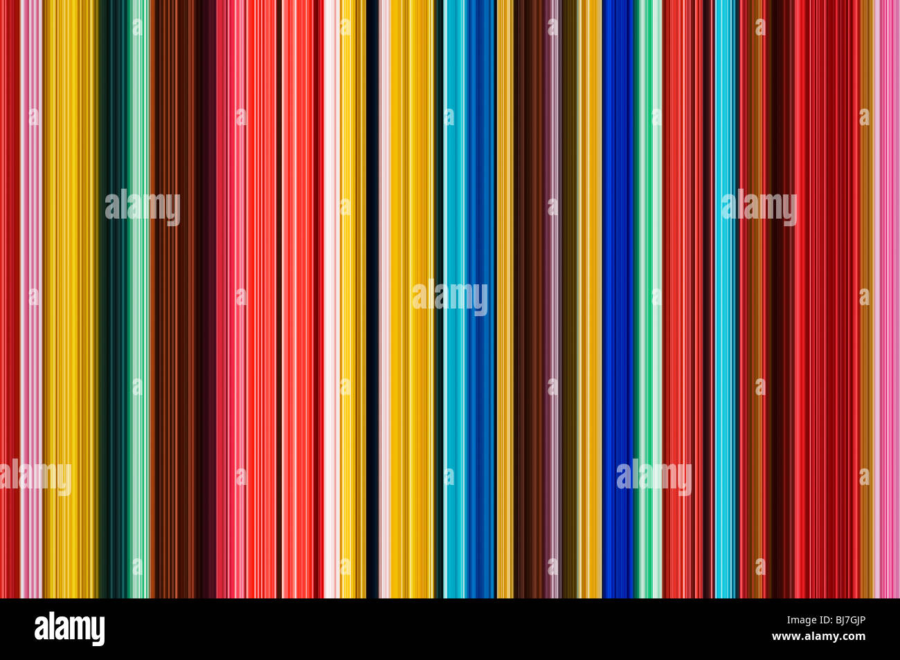 Multicoloured striped lines pattern. Digital illustration crafted from a photograph Stock Photo