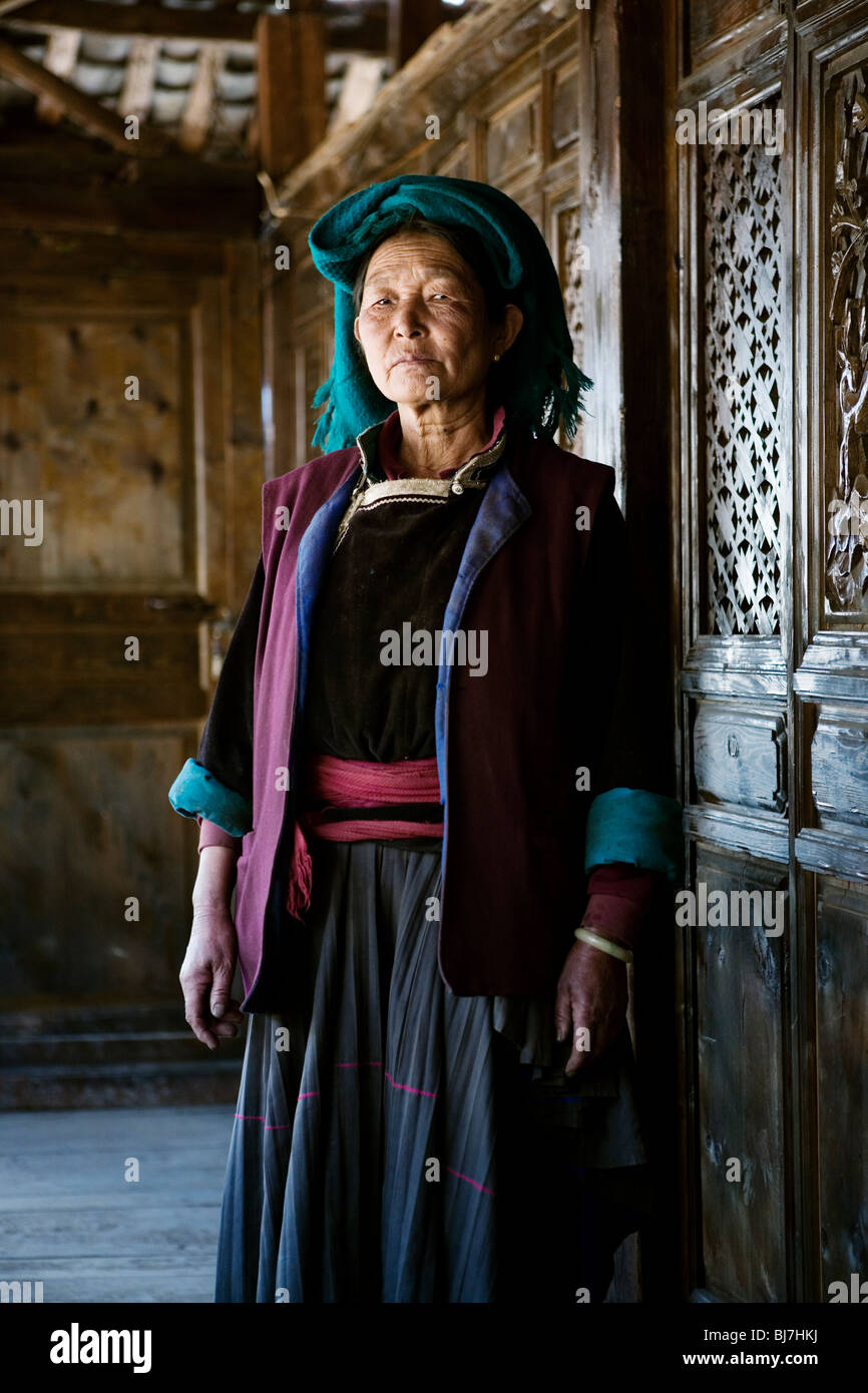 Mosuo people live on Lugu Hu lake, Yunnan province, China