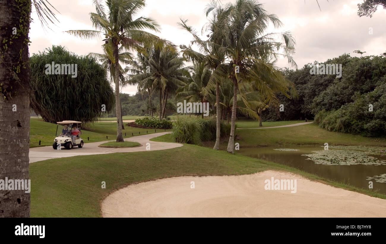 Golf Course, Muara,Brunei Darussalam - Stock Image