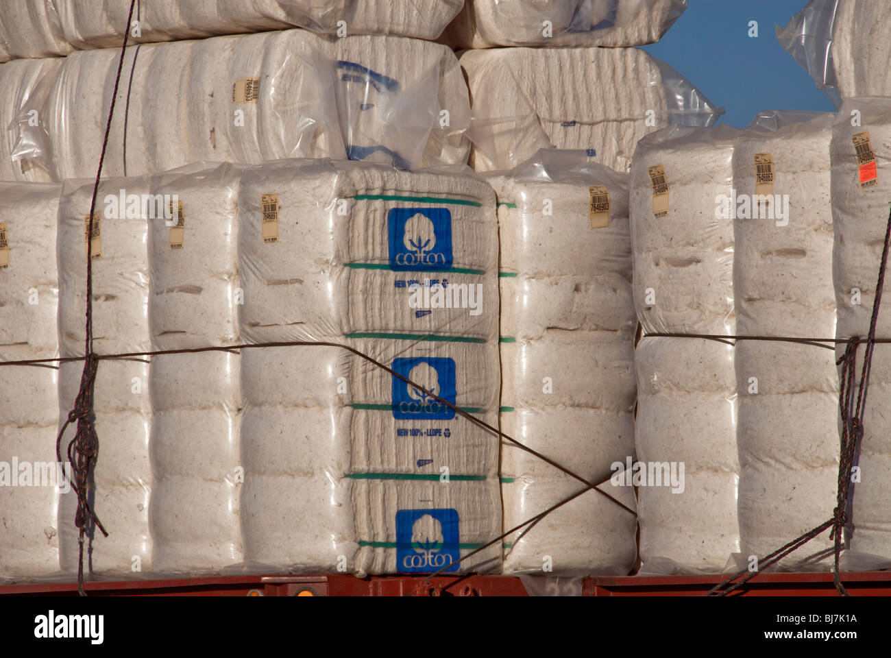 Cotton bales. - Stock Image