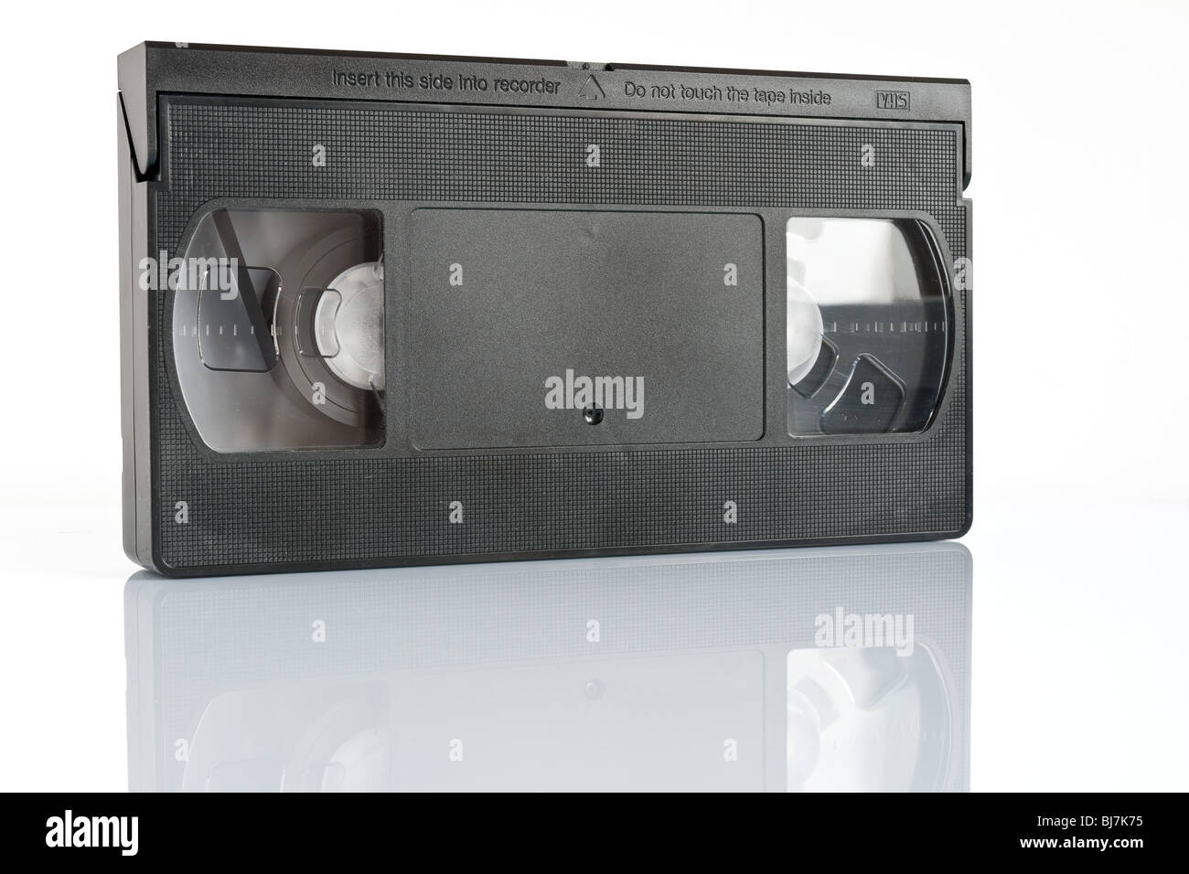 vhs video cassette isolated on white background with clipping path - Stock Image