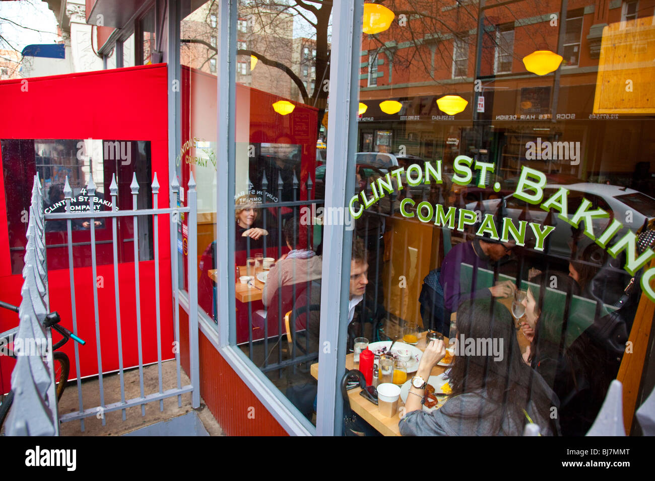 Brunch at Clinton St Baking Company in the Lower East Side, Manhattan, New York - Stock Image