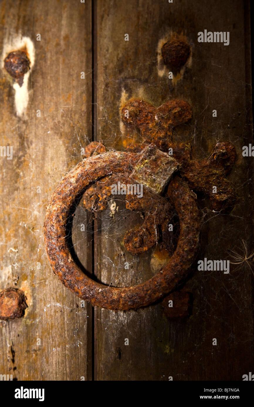 Old Church Door Catch - Stock Image & Cobwebs Door Stock Photos \u0026 Cobwebs Door Stock Images - Alamy