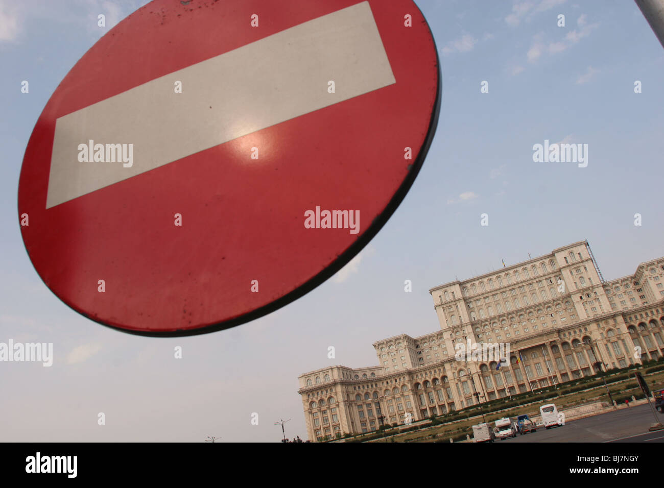 House of the Parliament ( formerly known as House of the people- Casa Poporului) in the city of Bucharest, Romania Stock Photo