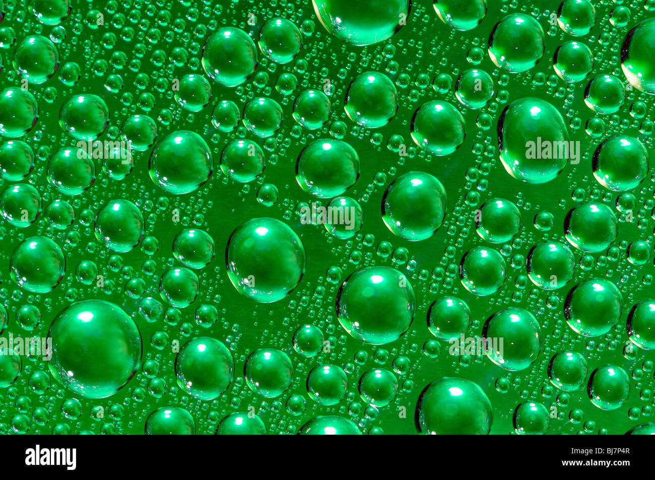 abstract background of water drops on glass - Stock Image