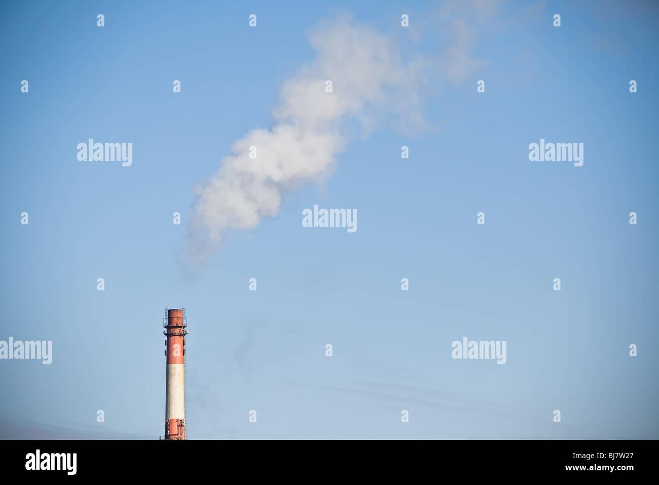 Chimney smoke as a CO2 symbol - global warming - Stock Image