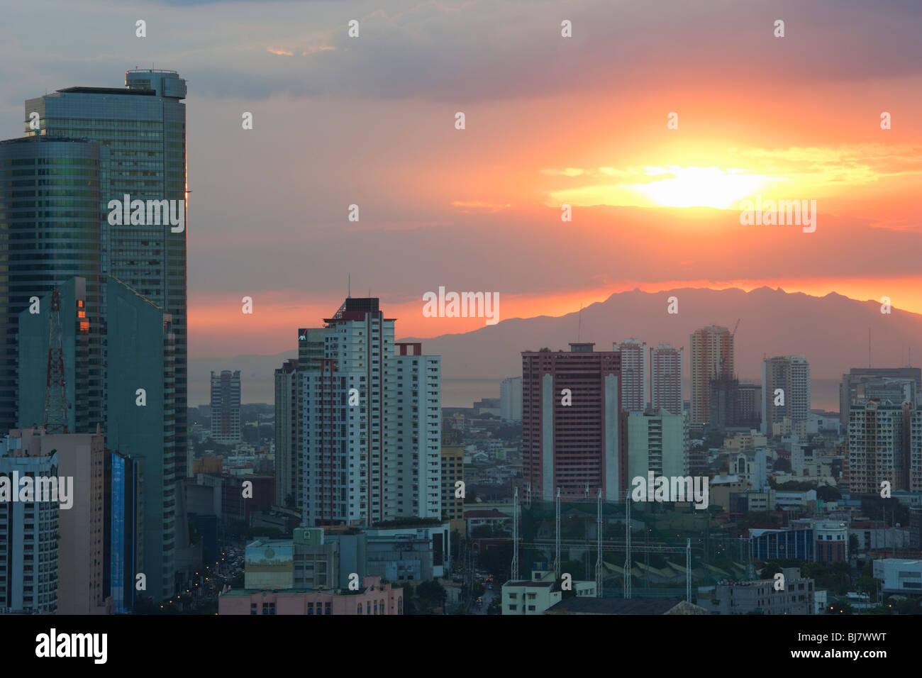 Sunset over Manila; Philippines - Stock Image
