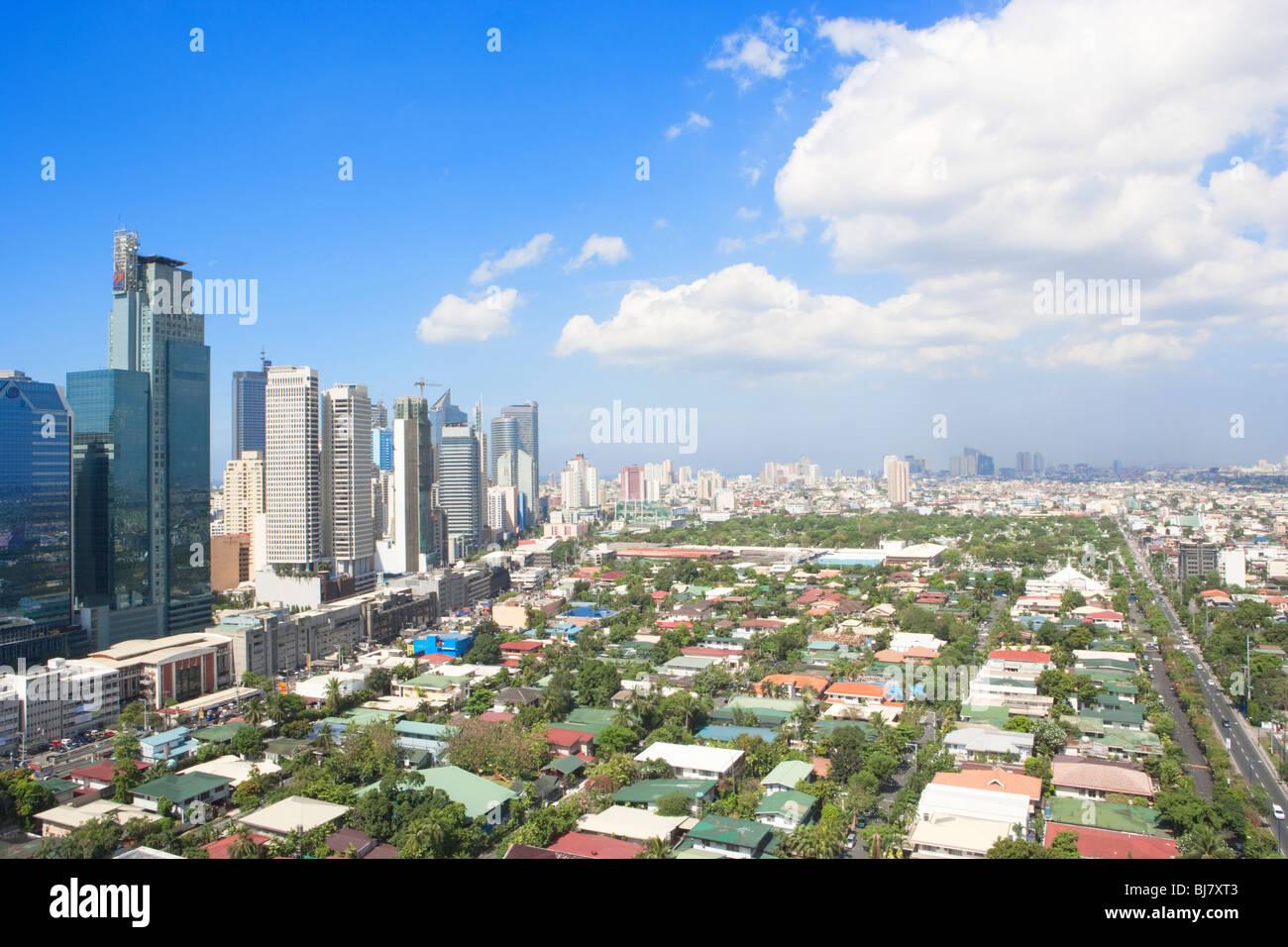 Business district Makati; Manila; Philippines - Stock Image