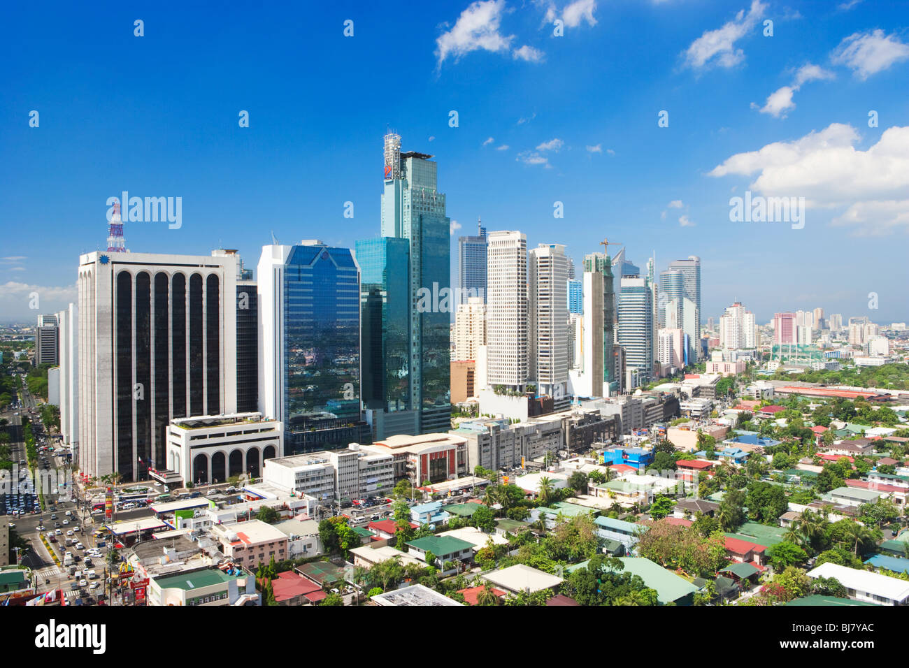 Business district Makati; Manila; Philippines - Stock Image
