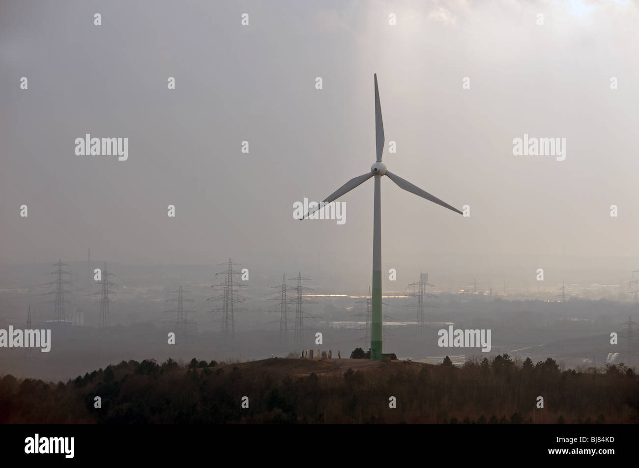 Wind turbine, Germany. - Stock Image