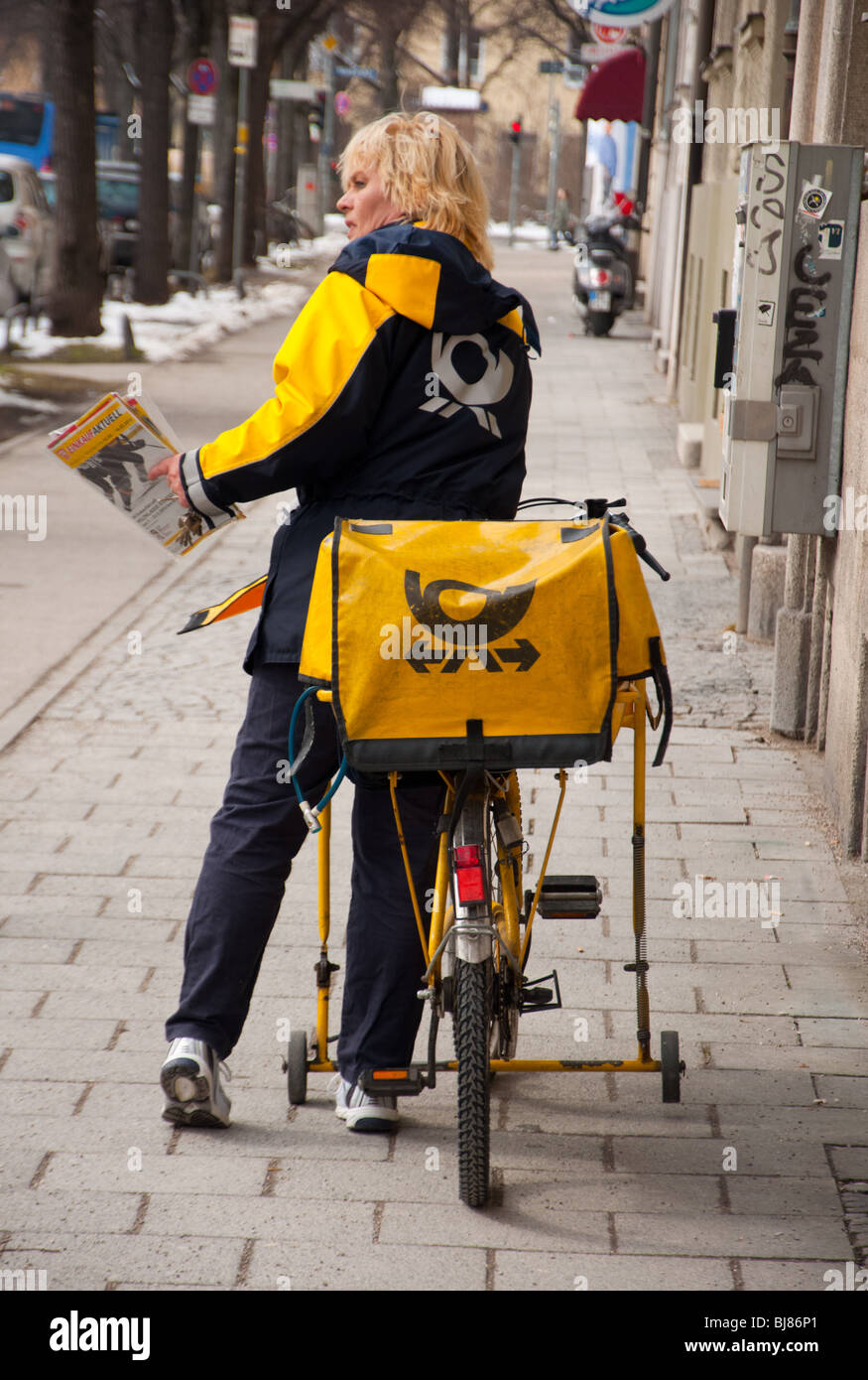 Post girl, Munich - Stock Image