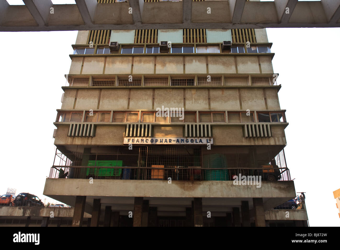 Africa Angola Flats Building Luanda Office Street - Stock Image