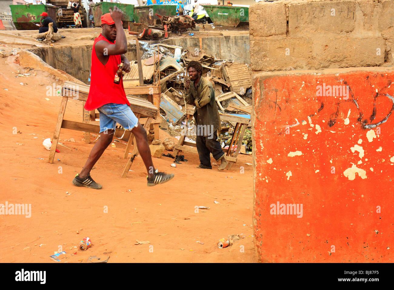 Africa Angola Luanda Bairro Orange Street - Stock Image