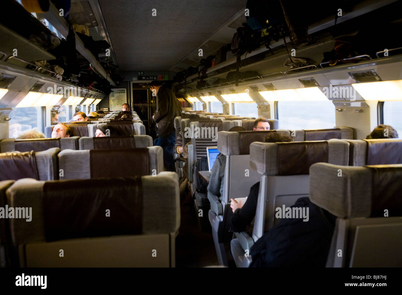 interior of train carriage on the eurostar service to paris stock photo 28455774 alamy. Black Bedroom Furniture Sets. Home Design Ideas
