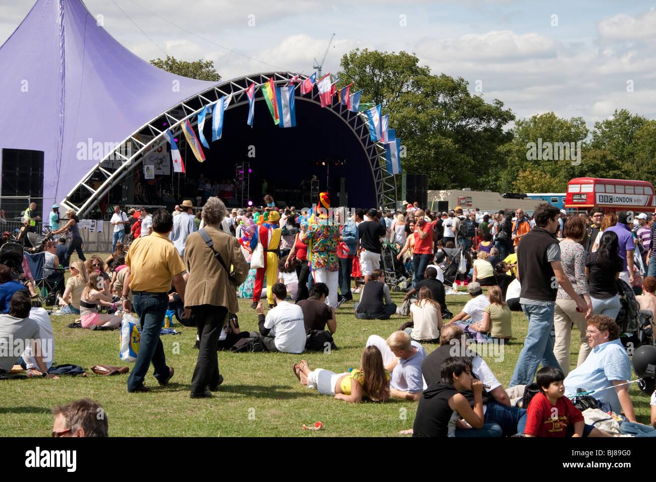 Carnaval Del Pueblo, London, England, UK - Stock Image